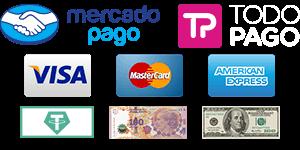 Catering formas de pago | tarjetas, mercadopago, dolares, criptomonedas, efectivo | Salsarte